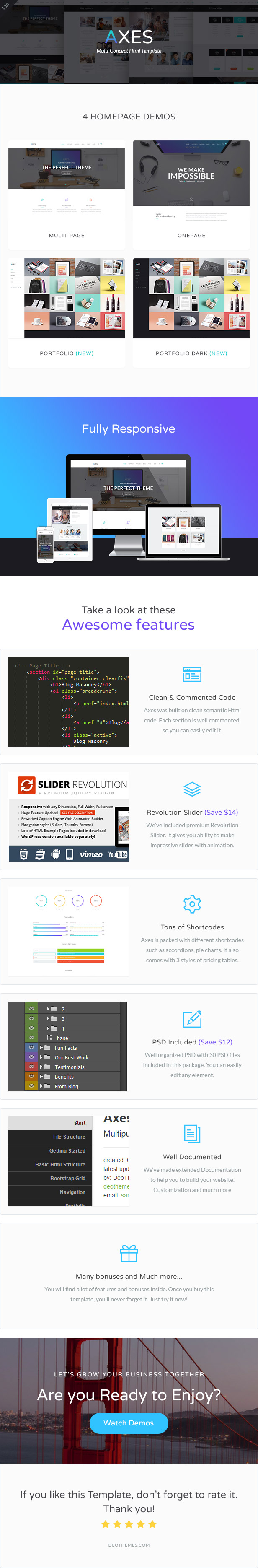 Axes   Multipurpose One/Multipage Html Template