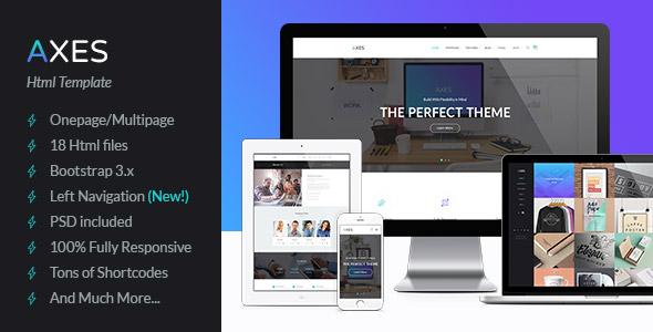 Unika   Responsive Material Design Onepage HTML Template