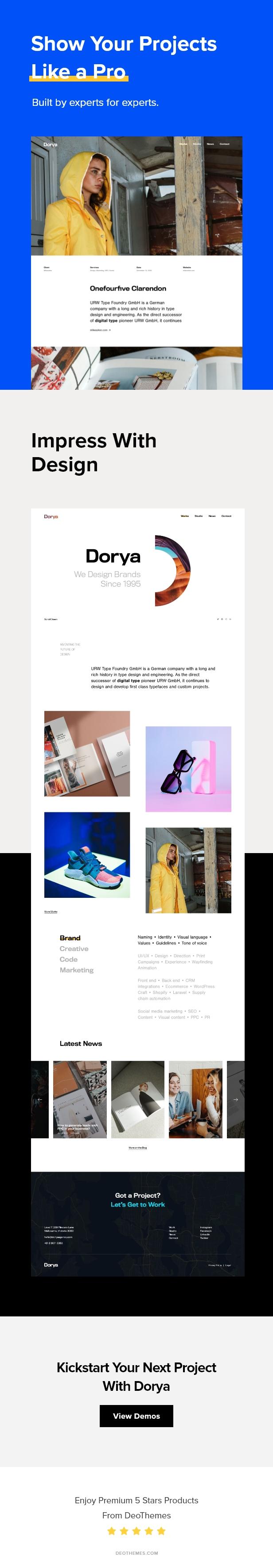Dorya   Creative Agency PSD Template