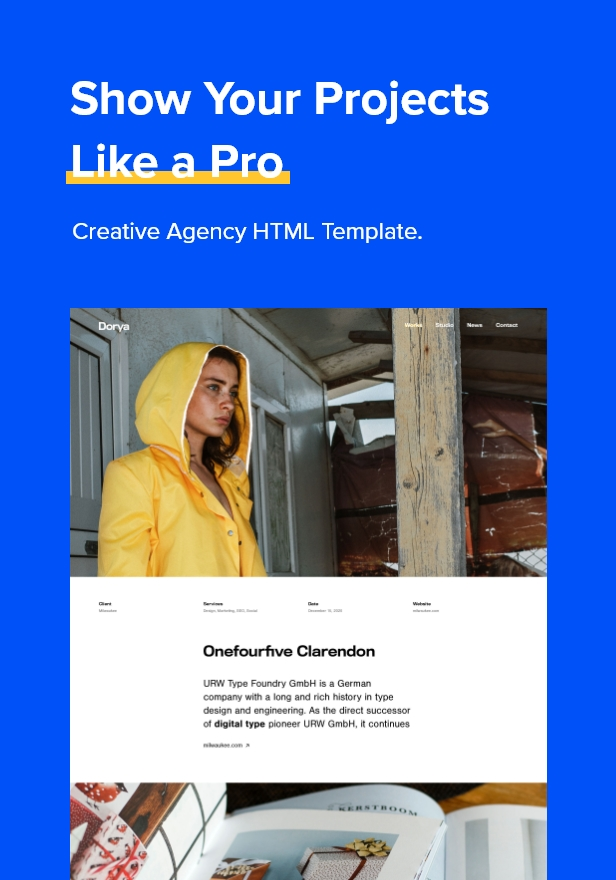 Dorya Creative Agency HTML Template
