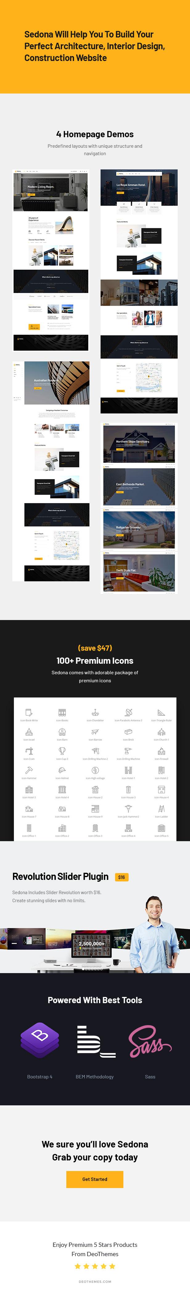 Sedona | Architecture & Construction HTML Template - 2