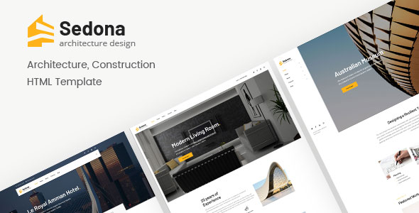 sedona architecture construction html template by deothemes