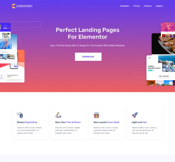 ElementorKit WordPress Theme for Landing Pages-min