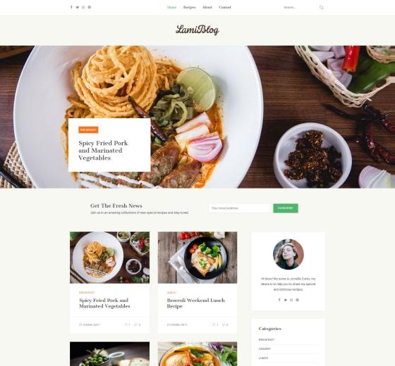Lami Recipe & Food Blog WordPress Theme-min