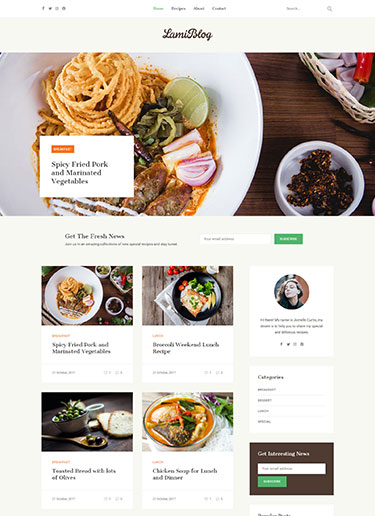 Lami-Recipe-Food-Blogging-WordPress-Theme​-Preview-front