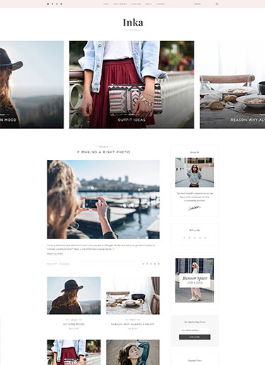 Inka-Minimal-Blogging-WordPress-Theme​-Preview-front