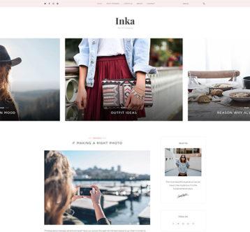 Inka Minimal Blogging WordPress Theme