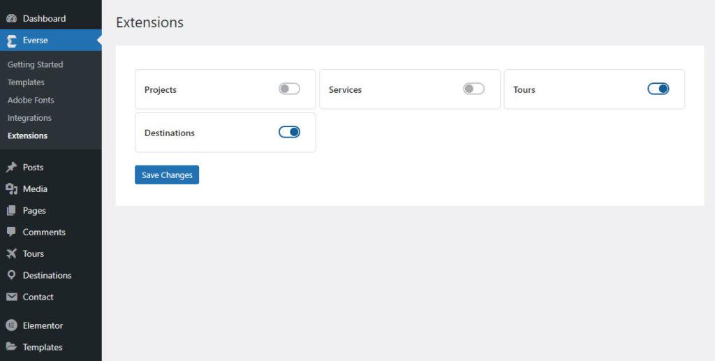 Everse WordPress Theme Extensions